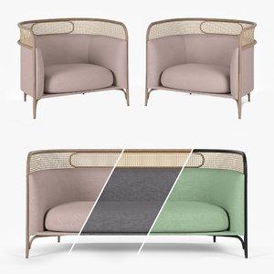 3D targa lounge armchair sofa
