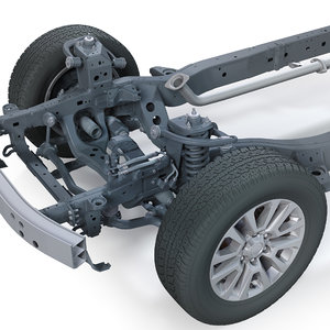 suv chassis frame 3D model