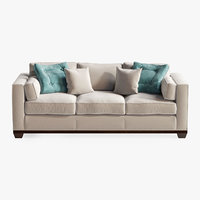 3D model baker reeded base sofa