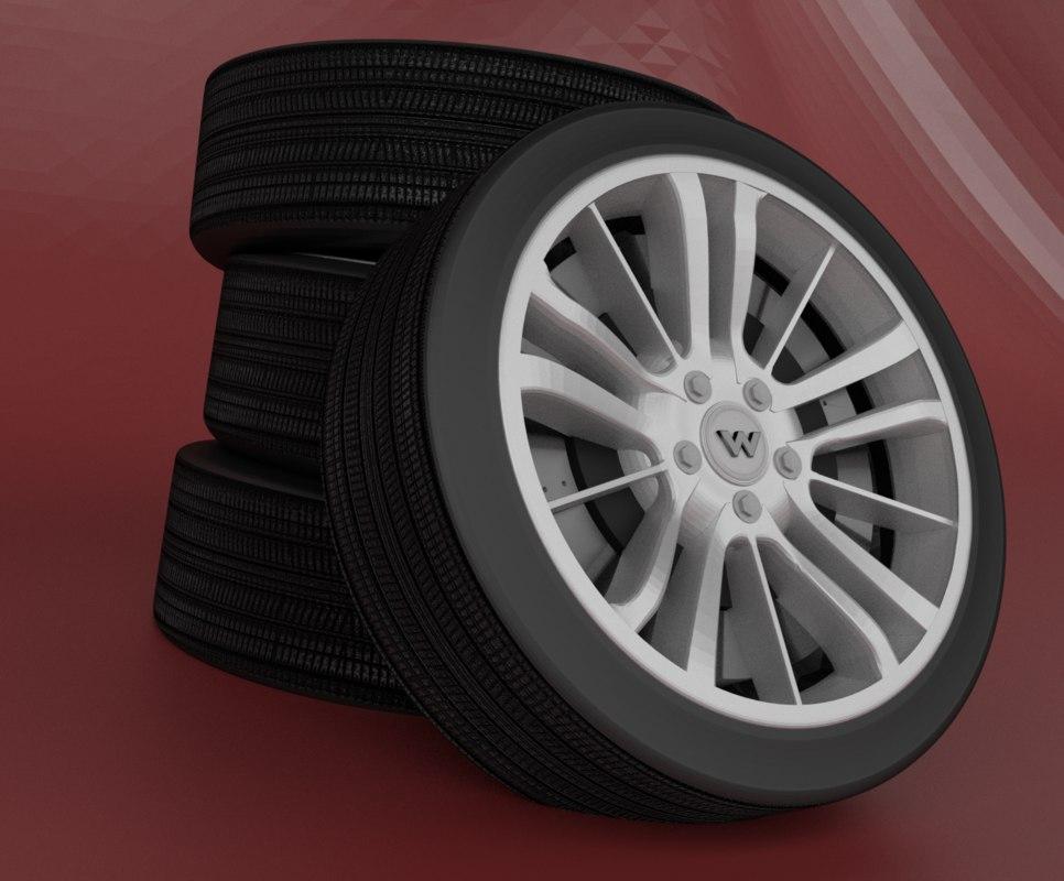 rubber rim 3D