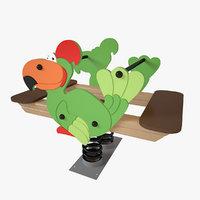 playground spring parrot 3D model