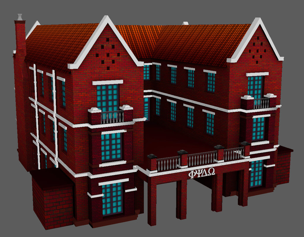 north american house 3D model