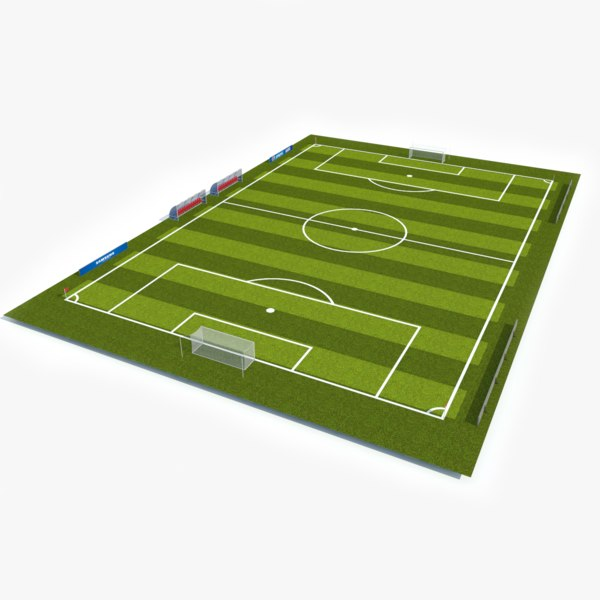 3D ready soccer pitch model