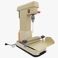 3D sewing machine fastening printed model