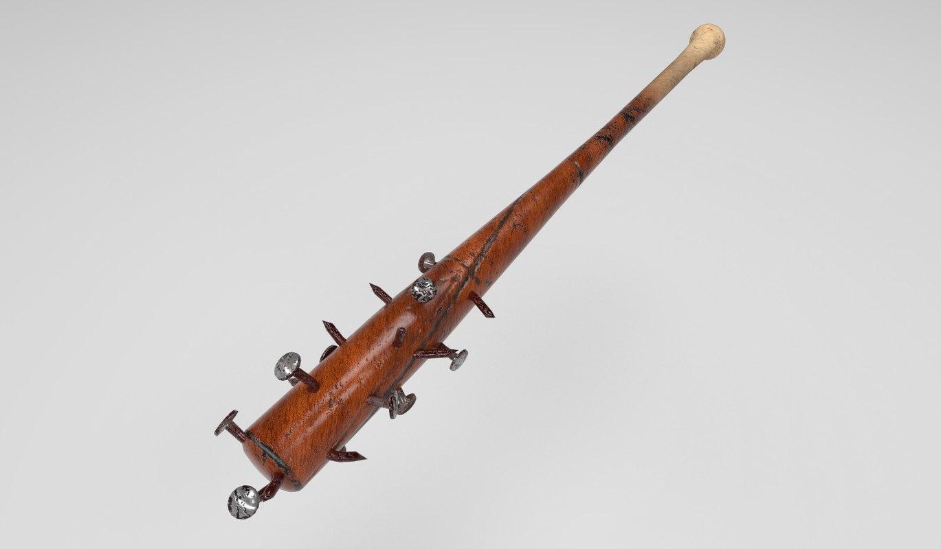 3D wooden baseball bat