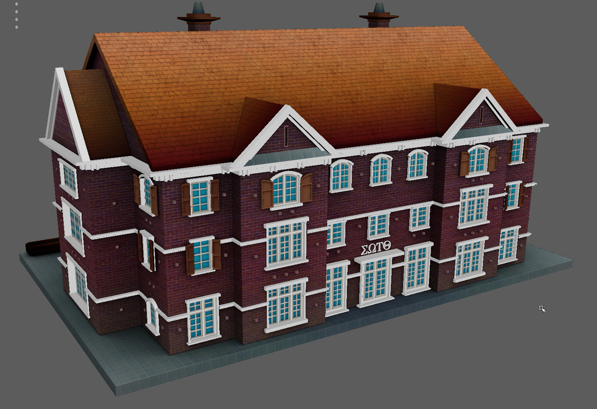 3D model north american house