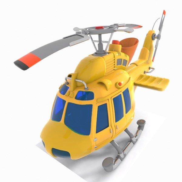 3D helicopter toon