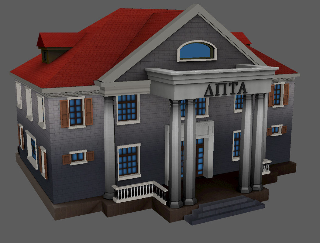 north american house 3D
