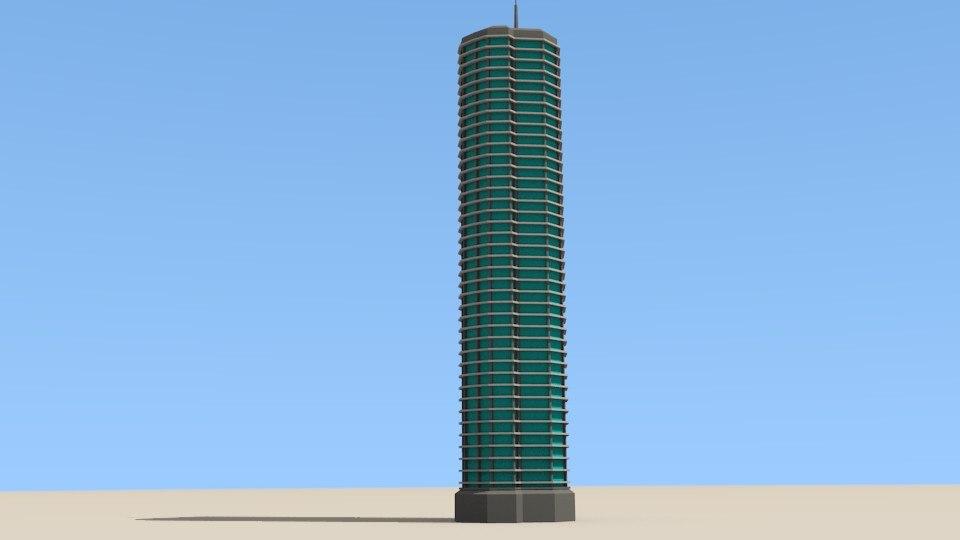 3D skyscraper cityscape