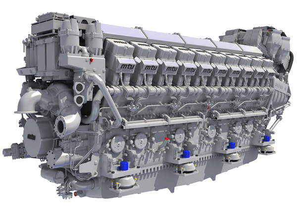 3D model mtus diesel engine propulsion