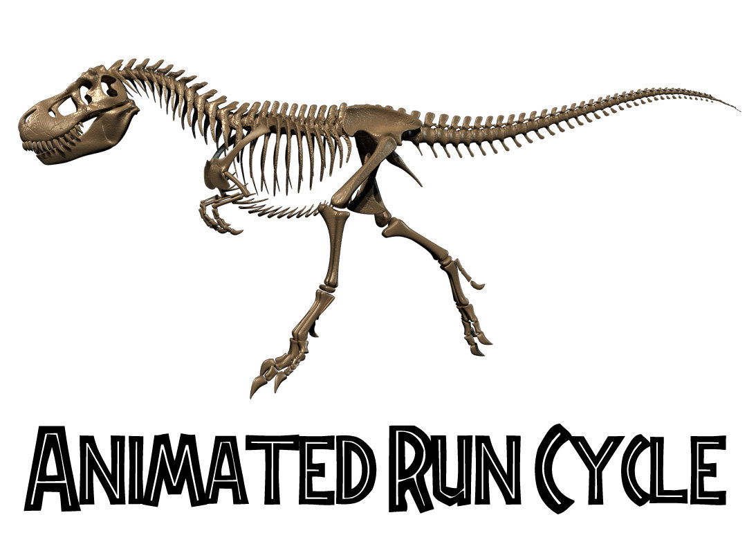 3D t rex run cycle model