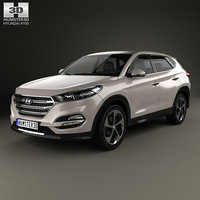 3D model tucson hyundai 2016