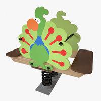 playground spring peafowl 3D