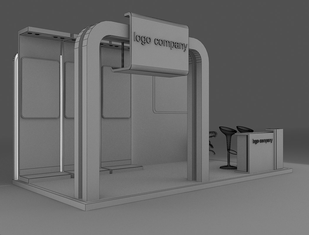 D Exhibition Booth Model : Exhibition booth blank template original d stock illustration