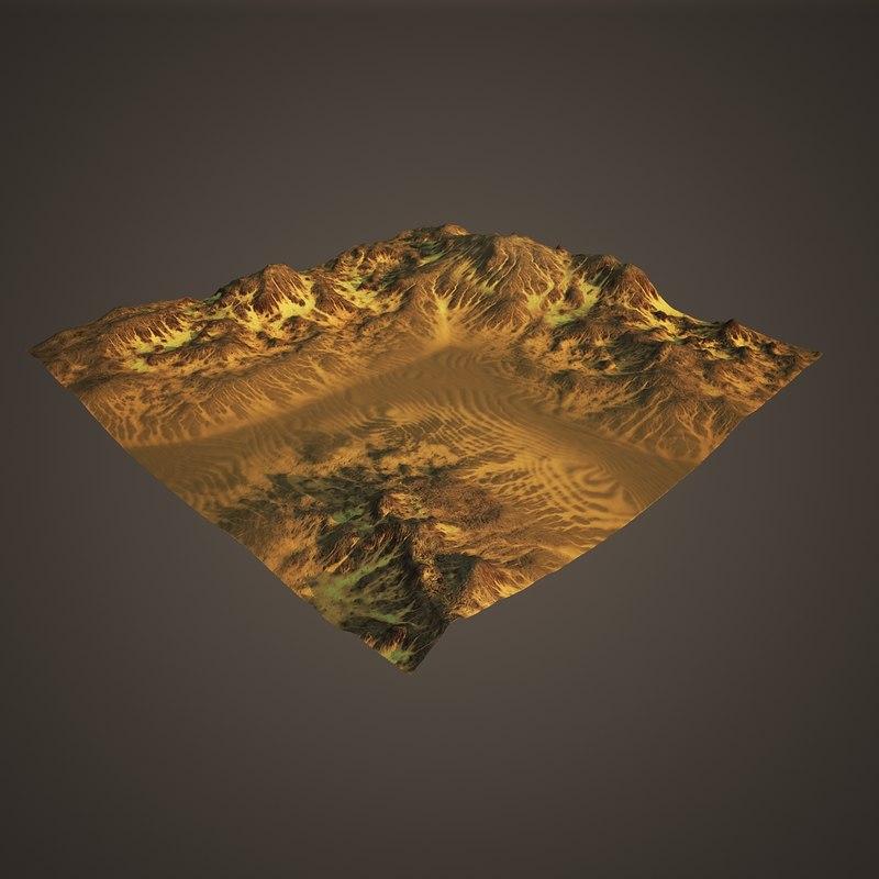 terrain 3 3D model