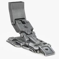 sci-fi robot leg 3D model