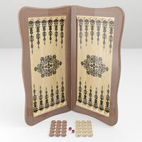 3D board backgammon