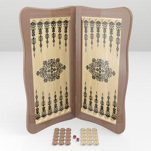 3D board backgammon