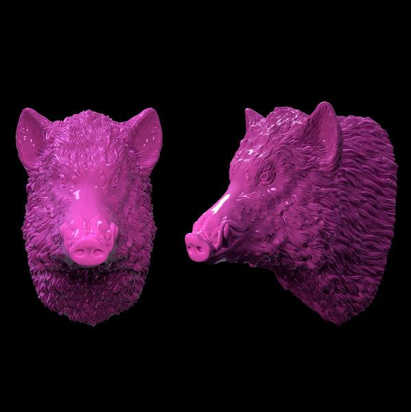3D model boar head