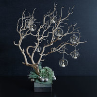 Decor branch and christmas toy