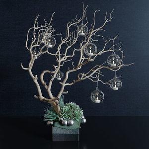 decor branch christmas toy 3D model