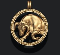3D horoscope taurus bull model