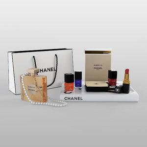3D chanel cosmetics set
