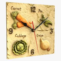 3D realistic fruit wall clock model