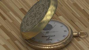 3D watch pocketwatch