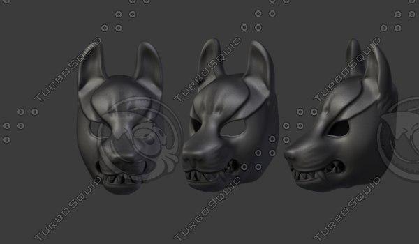 wolf mask 3D model