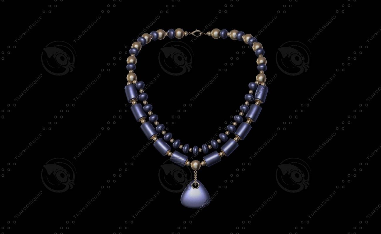necklace balls cylinders 3D model