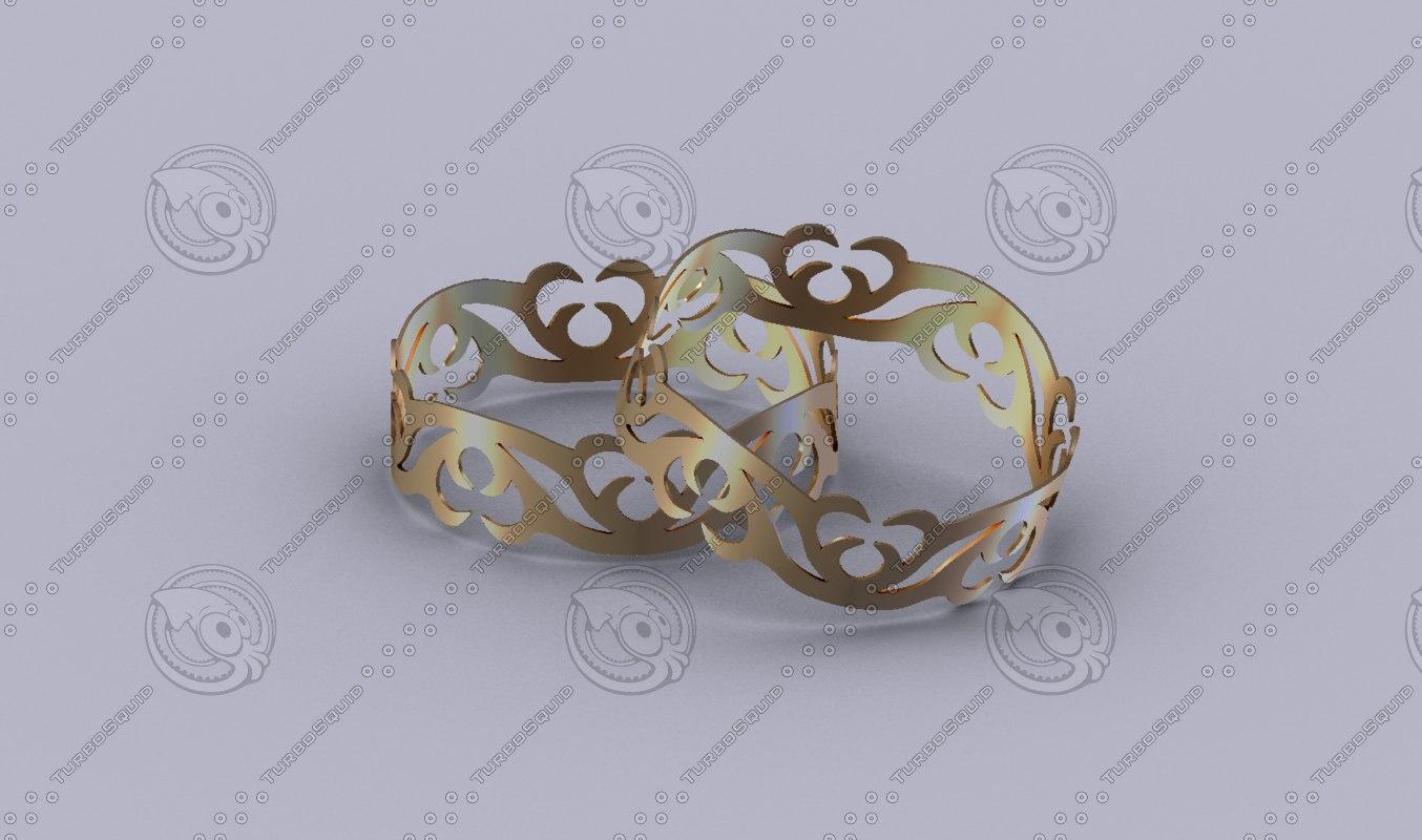 3D metal bracelet model