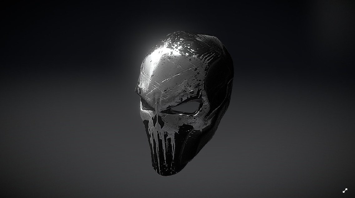 punisher mask 3D model