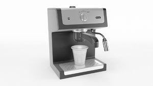 3D espresso machine coffee model