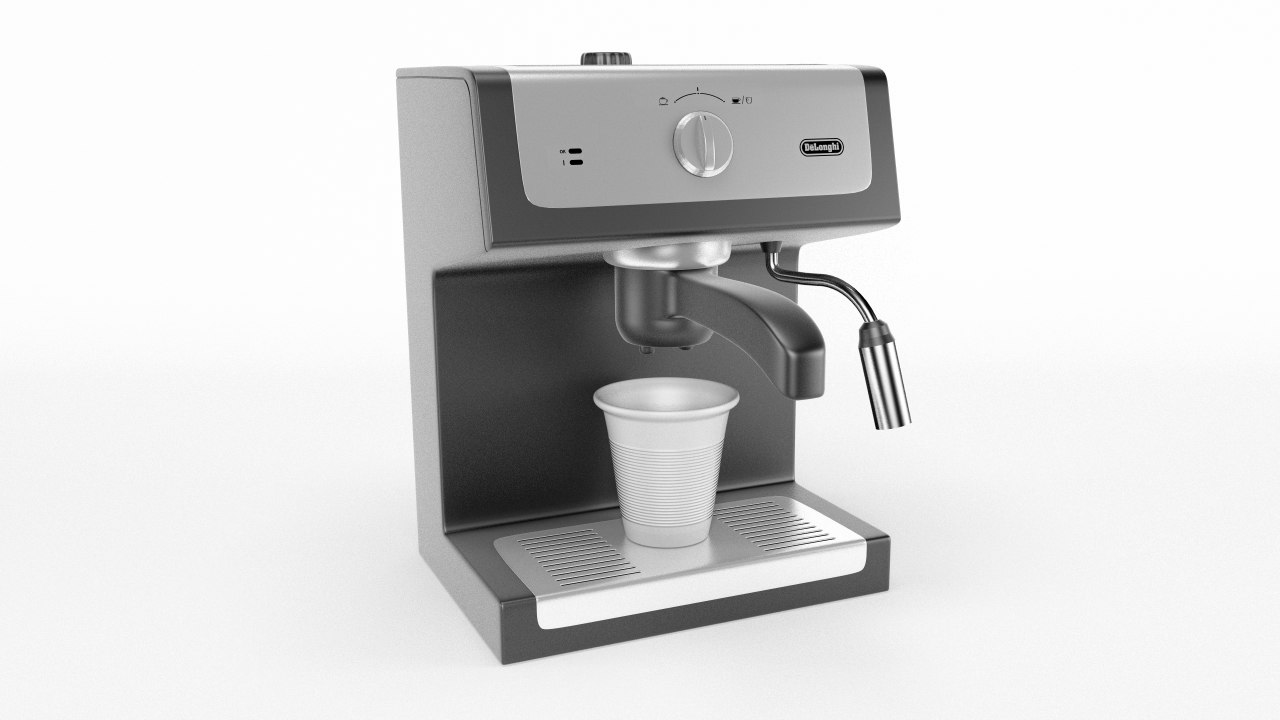 3D espresso machine coffee model