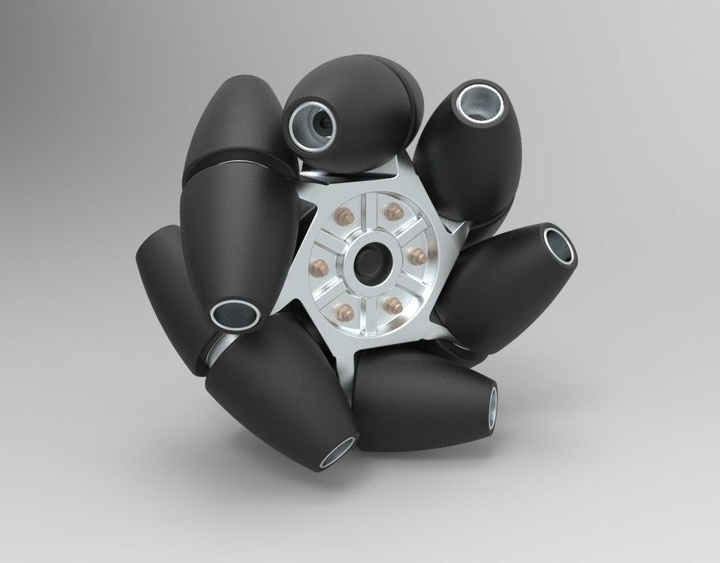 mecanum wheel 3D model