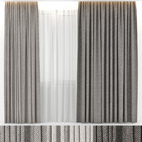 3D curtains wool model