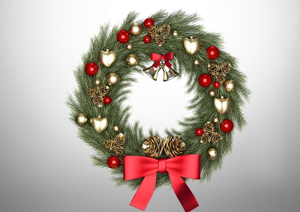 christmas wreath model