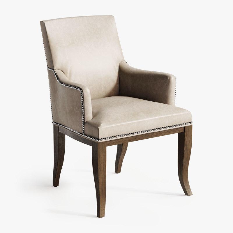 3D hickory chair handler arm