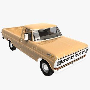 pickup f-100 3D model