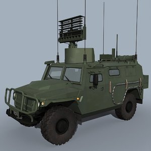 rampa-m-t russian radar 3D model