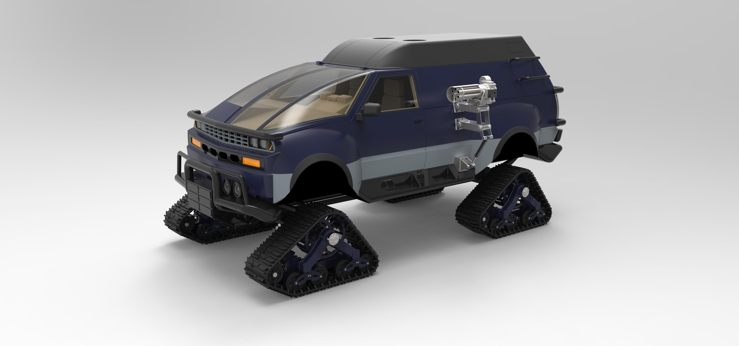 3D vehicle rv hell mattracks model
