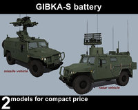 3D model gibka-s battery