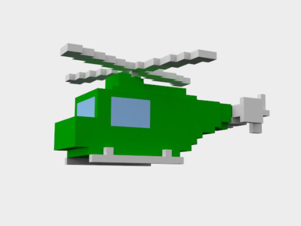 3D simple copter voxels model