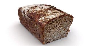 scan dark bread 3D model