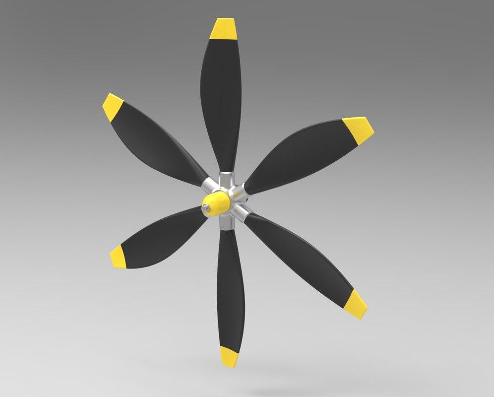 propeller airboat boat model