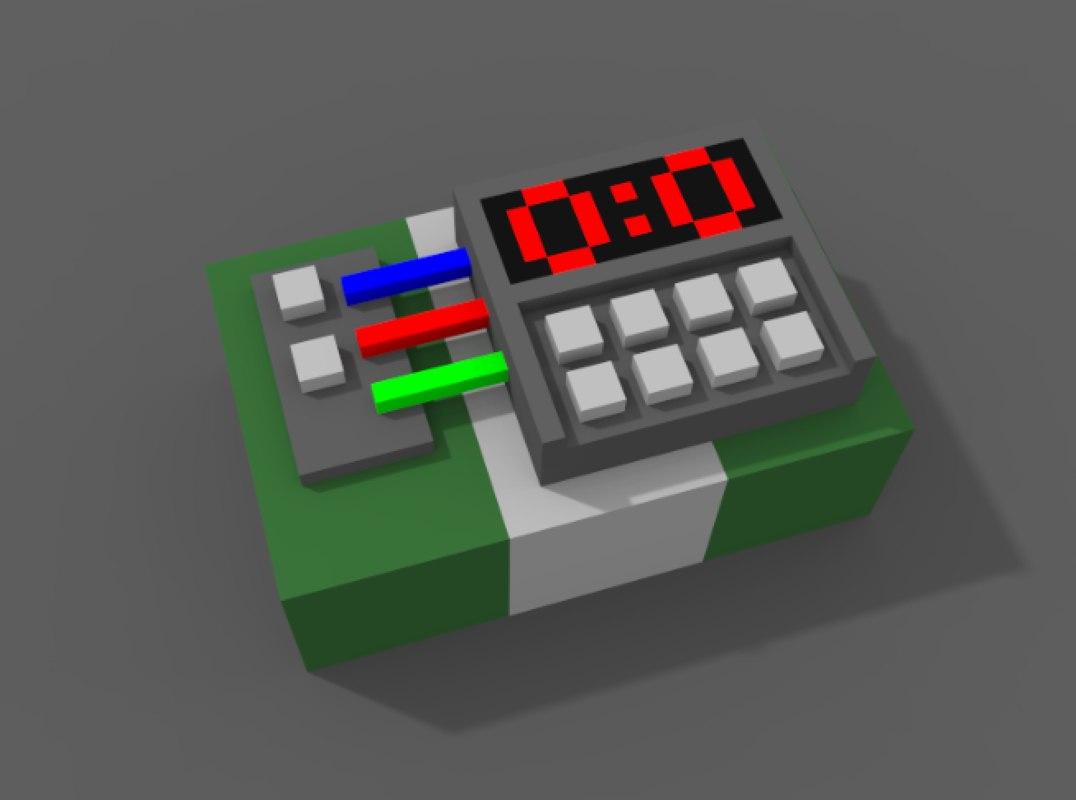bomb voxels 3D model