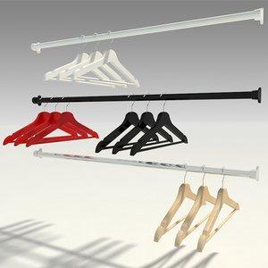 3D hangers wood model