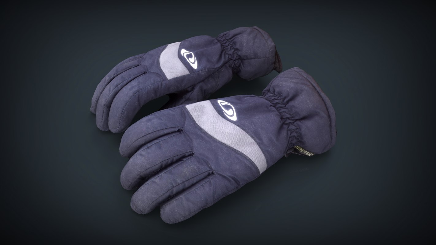 3D realistic ski gloves