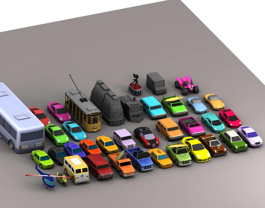 toy cars 3D model